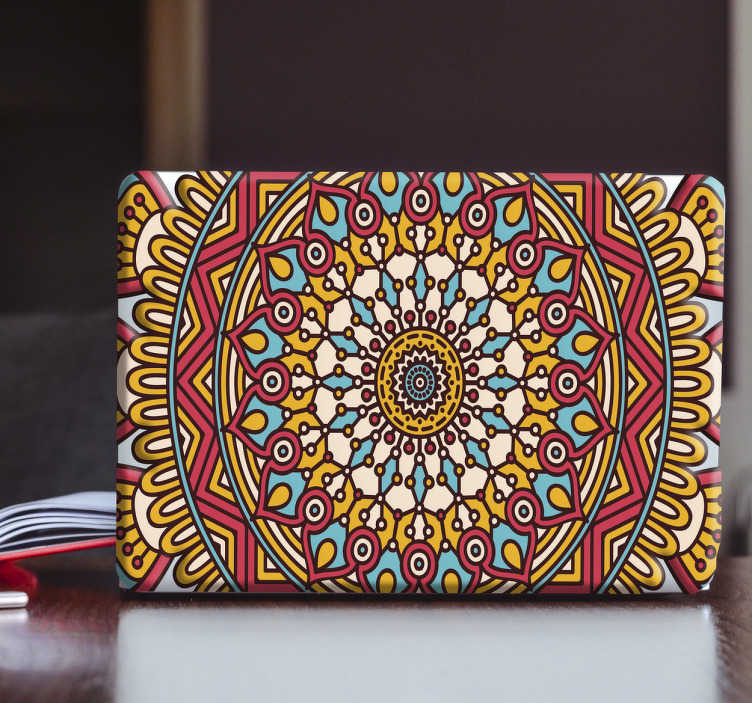 TenStickers. Oriental Pattern Laptop Decal. Quality laptop and tablet stickers- this oriental decal for laptops is such a unique design. If you want to show off an incredible style on your laptop, then this is the one to pick.