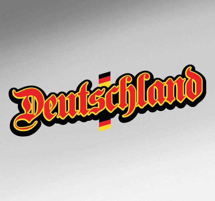 TenStickers. Deutschland Wandtattoo. Tolles Wandtattoo im Deutschland Design in den Farben der deutschen Flagge. Perfekt, um Ihre Vorliebe für dieses Land zu zeigen.