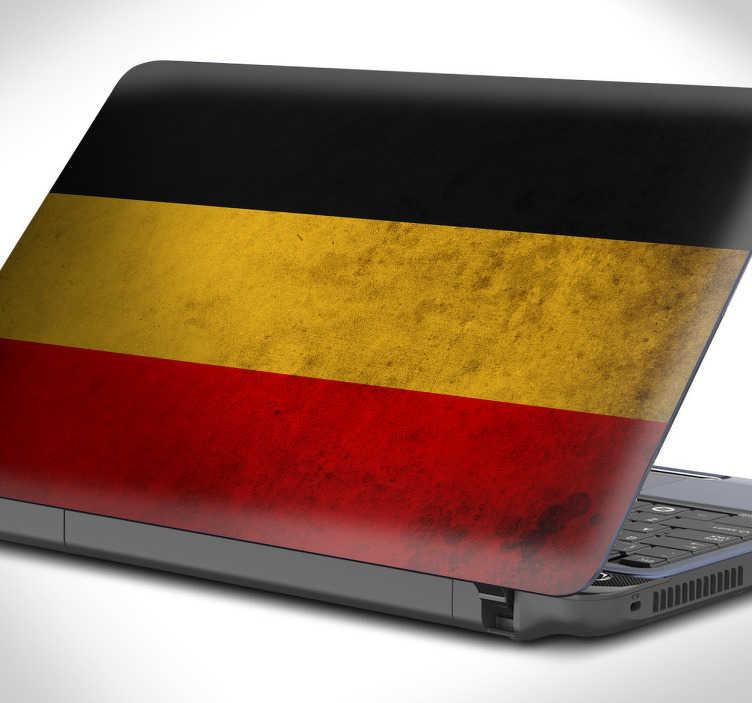 Sticker laptop duitse vlag