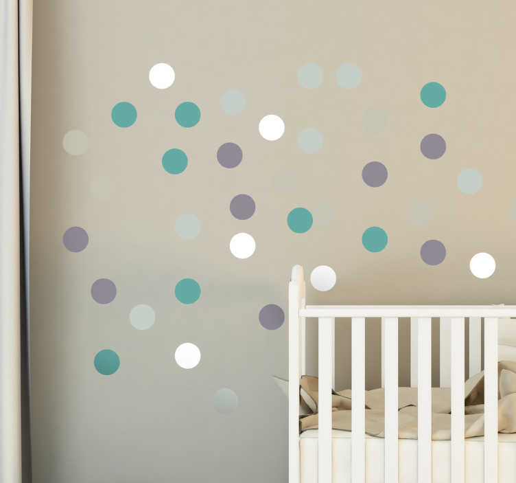 TenStickers. Five Colour Wall Spot Stickers. These simple yet effective decorative wall stickers are the perfect way to brighten up any dull wall in any room in the home!