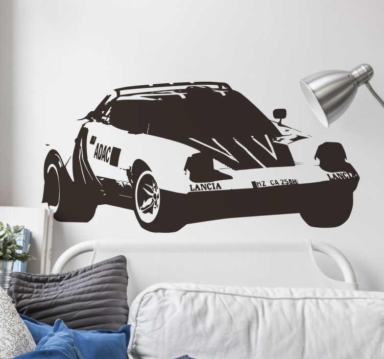 TenStickers. Dekorativt klistermærke, rallybiler. Dekorativt klistermærke, rallybiler - Til dig der er vild med biler og rallys, så er denne wallsticker helt perfekt til dig.