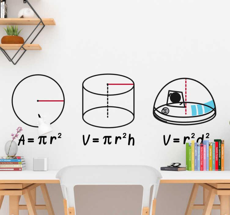 TenVinilo. Vinilo Star Wars R2D2 matemático. Vinilo r2d2 que muestra la ilustración de varias fórmulas matemáticas y cómo sacar la del divertido y cascarrabias robot de la saga espacial.