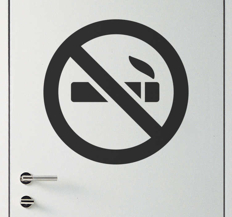 Adhesivo icono señal prohibido fumar