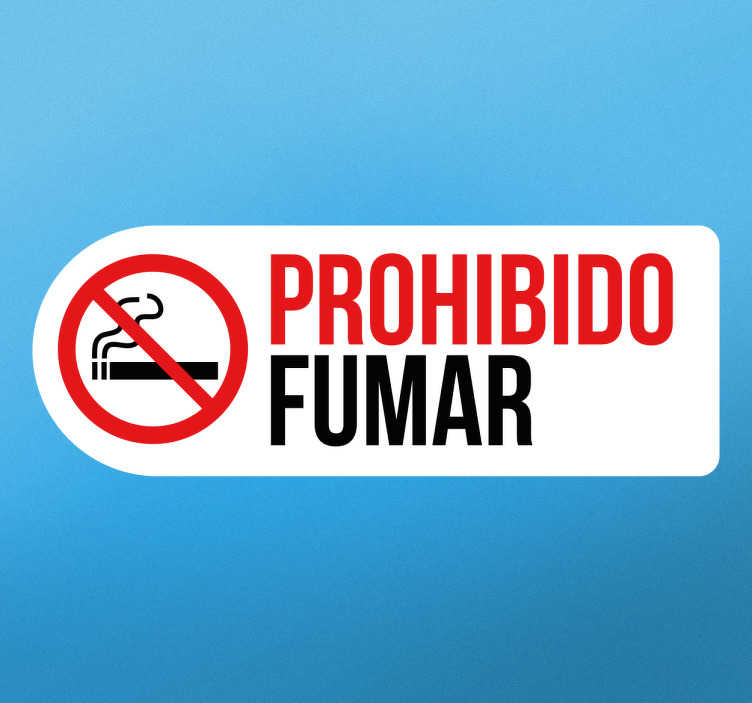 TenVinilo. Vinilo señalética prohibido fumar. Cartel de señalización autoadhesivo para indicar si en tu empresa o tu tienda está prohibido fumar tabaco.