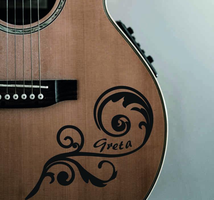 TenStickers. Naklejka personalizowana zespół rockowy. Naklejka na ścianę do personalizacjiNaklejka dla fanów rocka lub tych, którzy mają swój własny zespół i chcą posiadać naklejkę z nazwą zespołu.