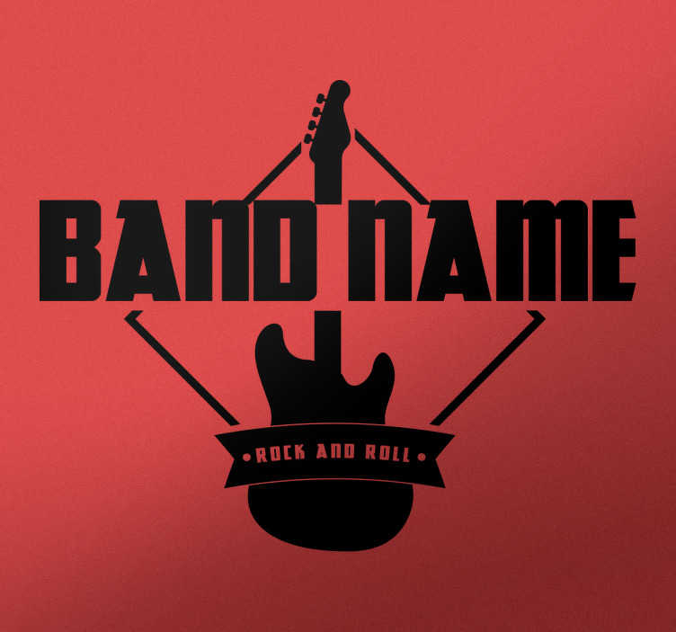Wandtattoo personalisierbarer Band Name