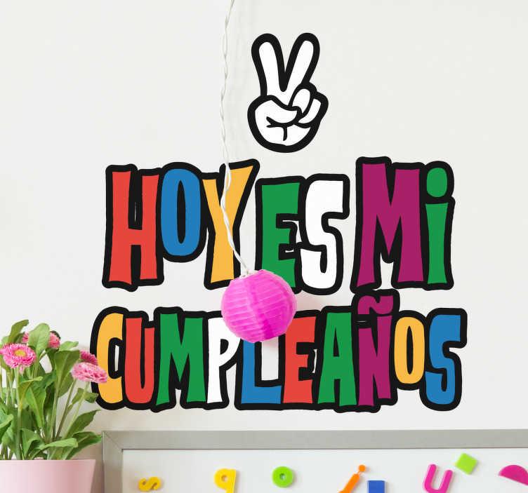 Vinilo infantil felicitaciones de cumpleaños