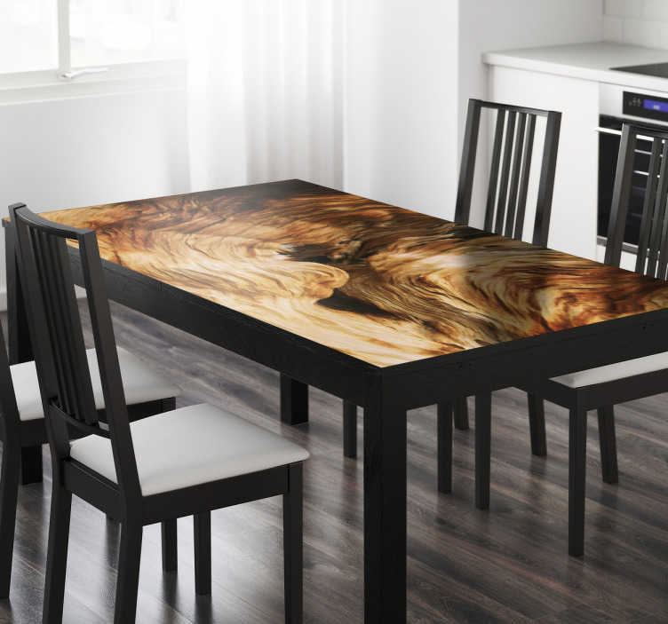 TenStickers. Adesivo tavolo texture roccia. Rendi unica e originale la tua sala da pranzo applicando questo colorato sticker con la texture della roccia sul tuo tavolo