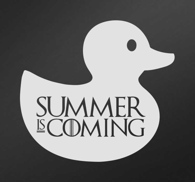 Vinilo decorativo summer is coming