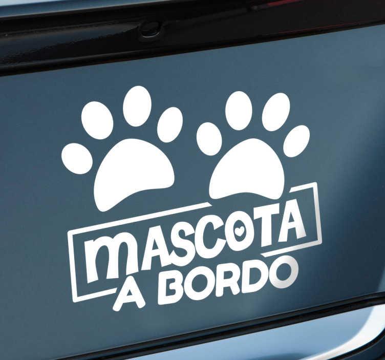 Sticker mascota a bordo