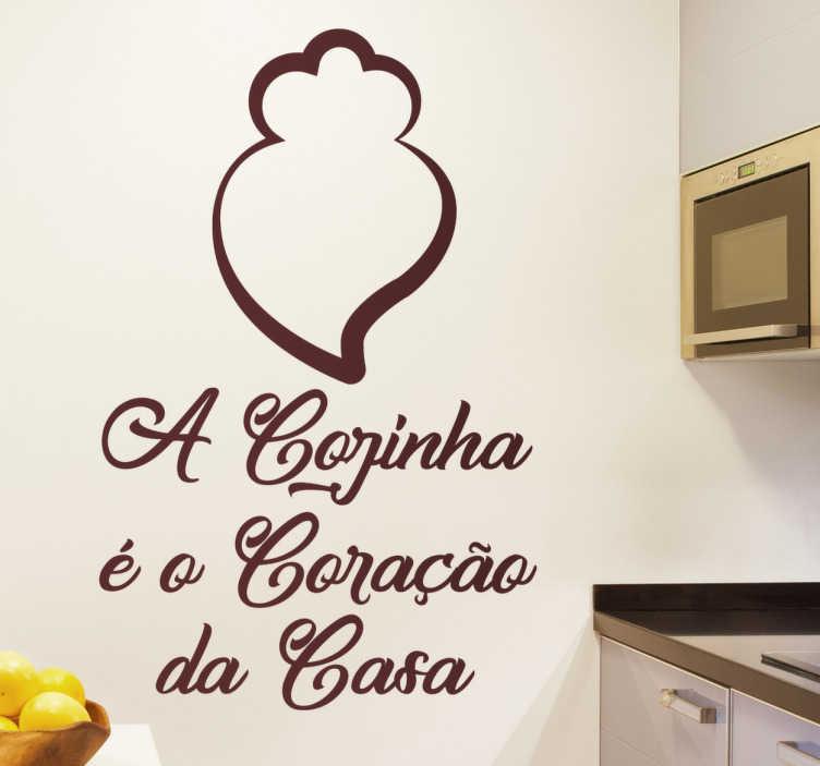 TenStickers. Autocolante coração de Viana cozinha. Autocolante para cozinha Coração de viana. Renova a tua cozinha com este maravilhoso vinil autocolante de excelente qualidade e por um preço incrível.