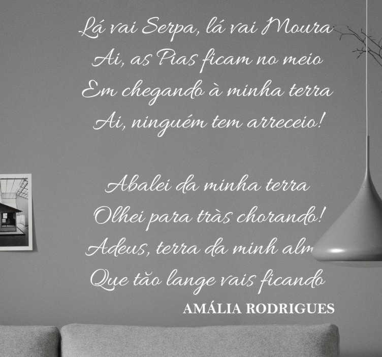 TenStickers. Autocolante fado Amália Rodrigues. Vinil Fado de Amália Rodrigues. Decora a tua casa com este vinil autocolante de Amália Rodrigues por um preço apelativo.