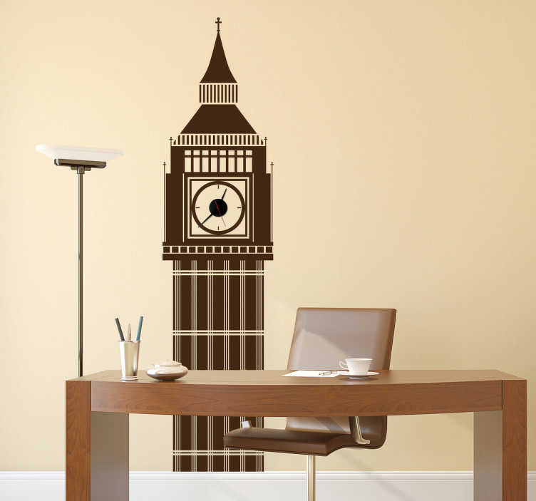 TenStickers. Big Ben Decorative Wall Decal. The Big Ben wall decal is a wonderful decorative vinyl. The London wall sticker is recognised all around the world as one of the famous UK landmarks.