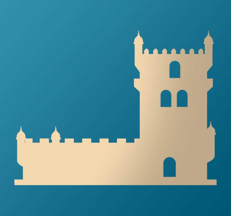 TenStickers. Autocolante Torre de Bélem. Vinil autocolante torre de Belém. Decora a tua habitação com este vinil autocolante da torre de Belém por um preço atrativo.