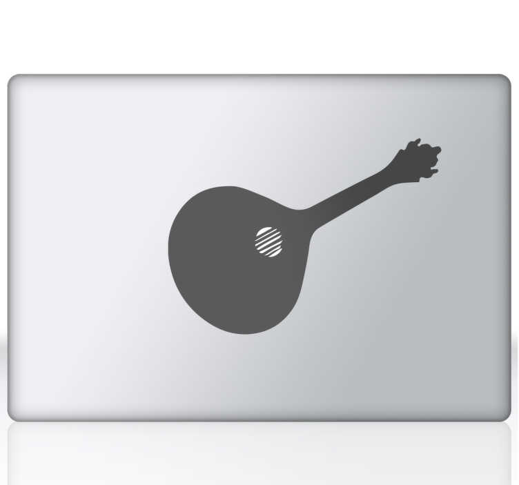 TenStickers. Vinil portátil guitarra fado. Vinil de portátil Guitarra Portuguesa. Coloca no teu portátil este fantástico vinil da guitarra Portuguesa por um preço apelativo.