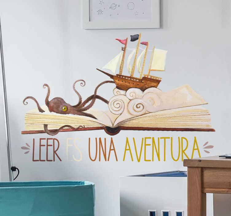 TenVinilo. Vinilo leer es una aventura. Vinilos originales para niños y niñas aventureros y amantes de la lectura con los que podrás personalizar su habitación.