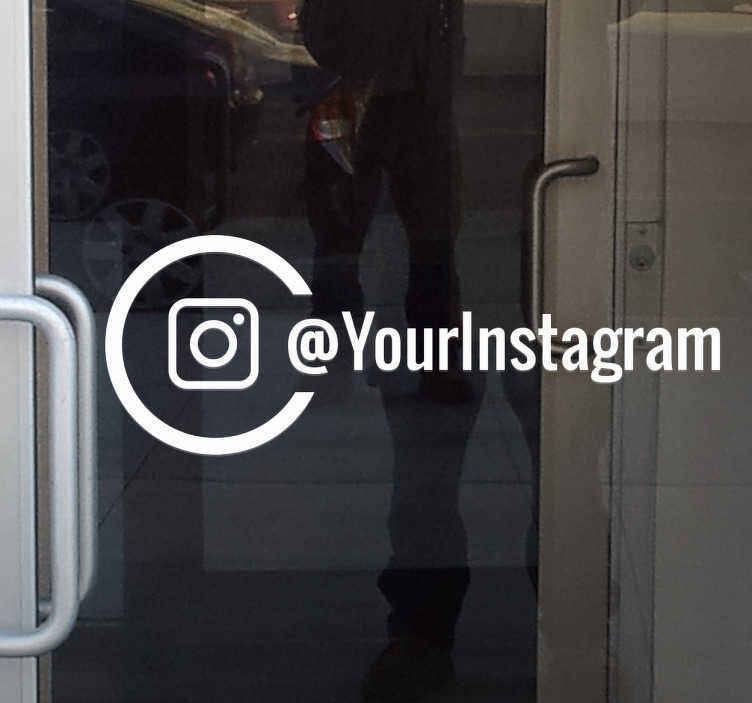 Personalised Instagram window sticker