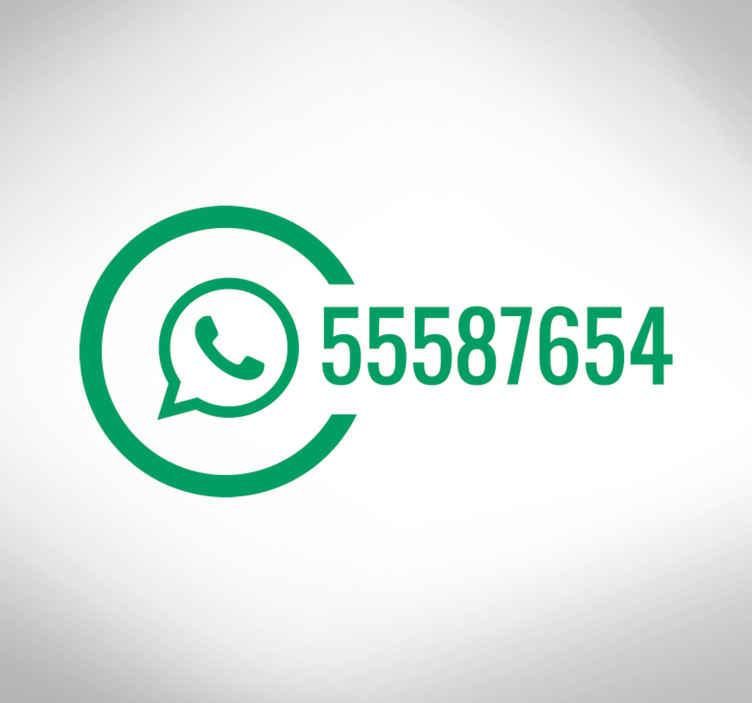 TenVinilo. Vinilo para negocios whatsapp. Adhesivos para negocios que deseen mostrar claramente cómo deben comunicarse sus clientes con ellos a través de Whatsapp.