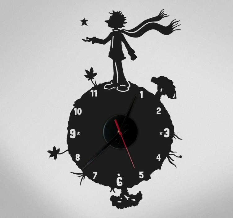 Sticker horloge le Petit prince