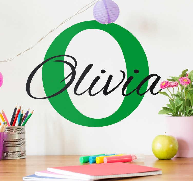 TenStickers. Sticker enfant prénom initial. Faites de la chambre de votre enfant un endroit unique, propre à lui avec ce sticker personnalisable d'un prénom et de son initial.
