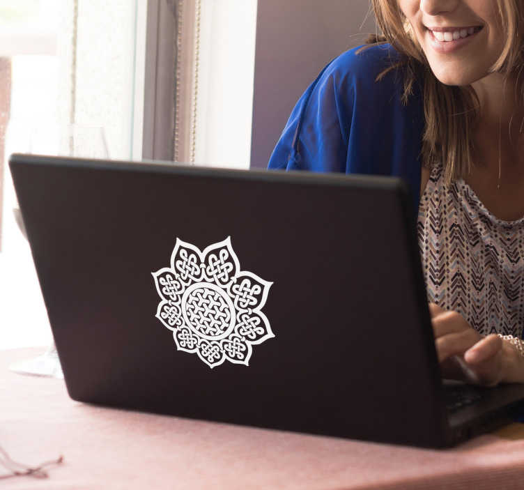 TenStickers. Celtic Mandala Laptop Sticker. Decorate your laptop with the Celtic Mandala sticker. Our Celtic decals carry so much culture and tradition. +10,000 satisfied customers.