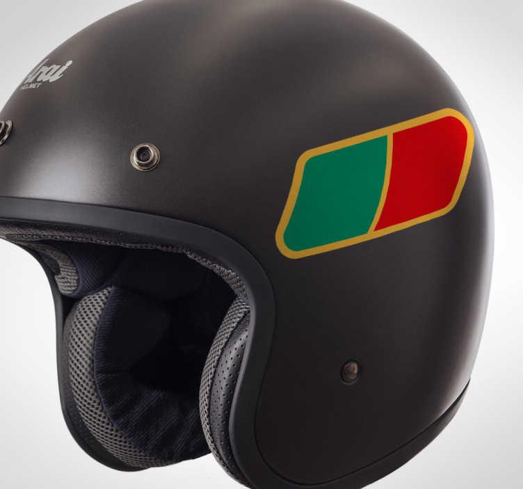 TenStickers. Autocolante para mota bandeira de Portugal. Autocolante personalizado para motas e até mesmo para decorar o seu capacete. Vinil resistente e duradouro. Ideal para quem se quer destacar.