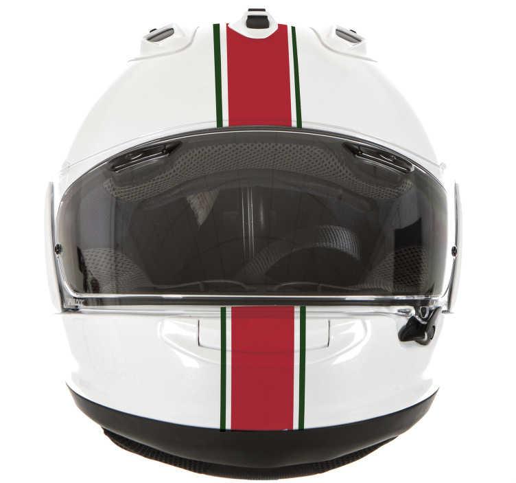 TenStickers. Autocolante capacete bandeira portuguesa. Autocolante para capacete faixas Portugal. Coloque o seu capacete mais atrativo com este autocolante de qualidade por um preço baixo.