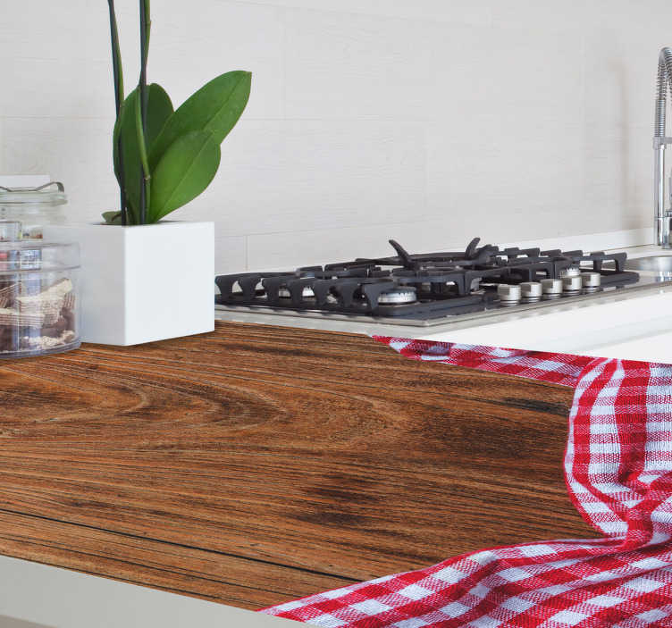 TenStickers. Vinil Decorativo Madeira Meio Tom. Um vinil decorativo em aparência de madeira com um tom de cor média, um vinil perfeito para retocar os cantos da sua habitação.
