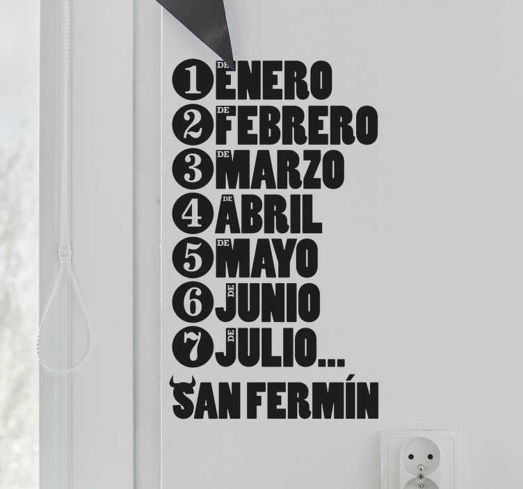 TenVinilo. Vinilo decorativo San Fermín. Vinilos para decoración basados en una de las fiestas populares más reconocidas mundialmente: los Sanfermines.