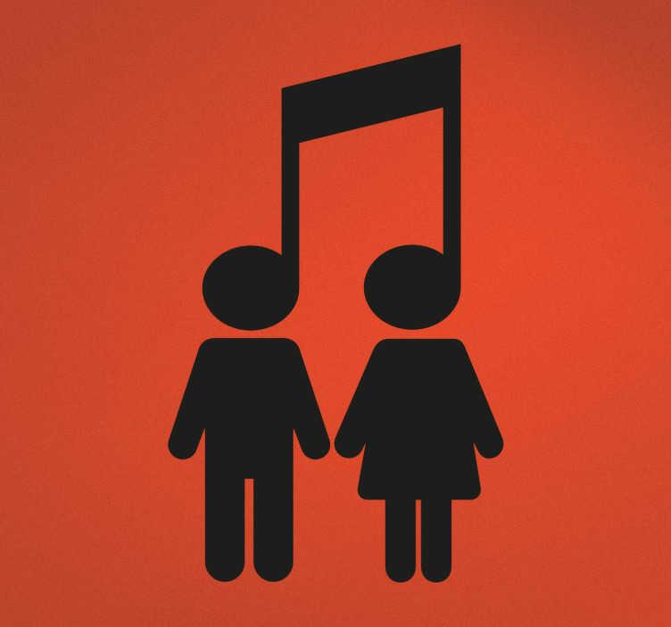 Adesivo icona nota musicale