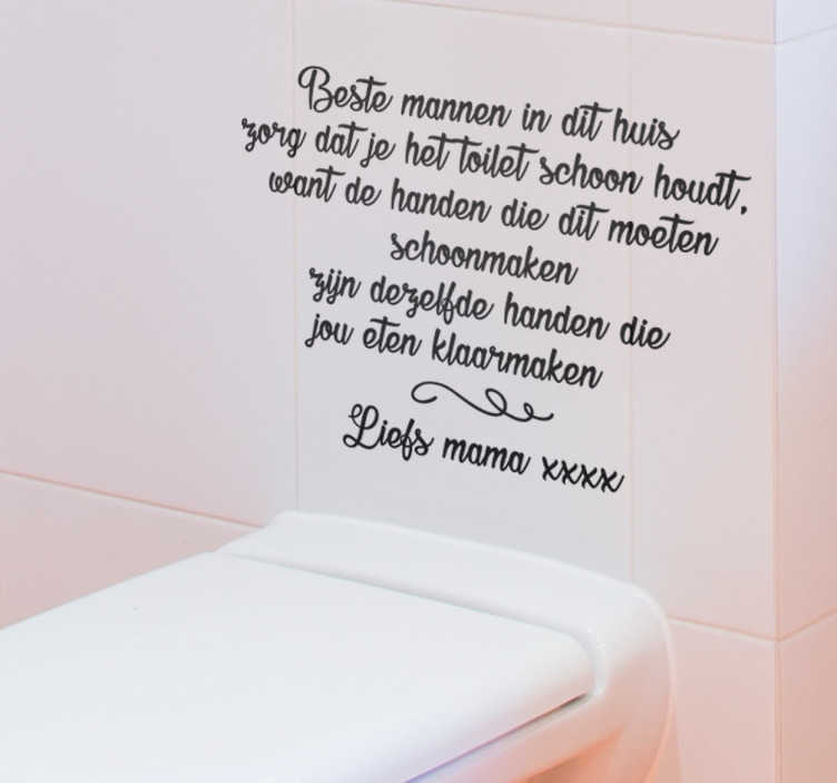 Sticker toilet mama