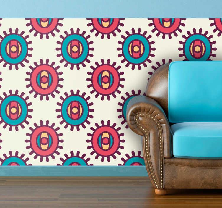 Sticker motif soleil indien