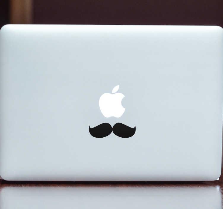 Sticker ordinateur moustache Français