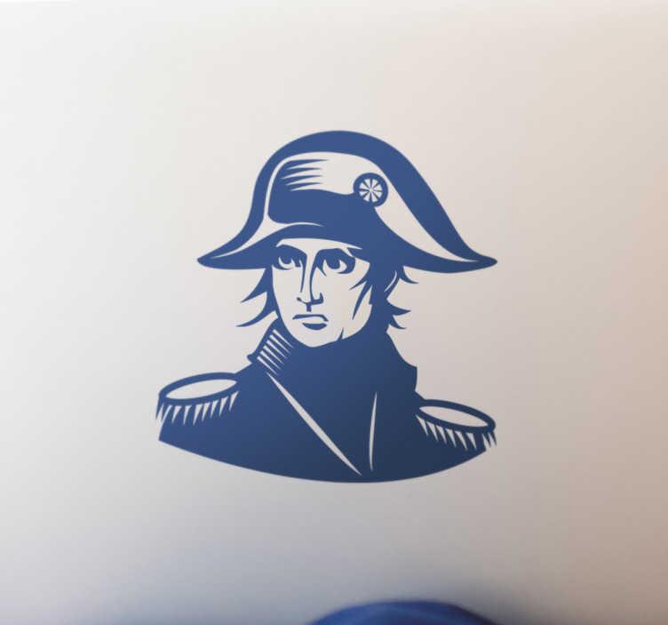 TenStickers. Sticker ordinateur Napoléon. Sticker ordinateur Napoléon. Revenez en arrière dans l'Histoire de la France avec ce sticker de Napoléon.