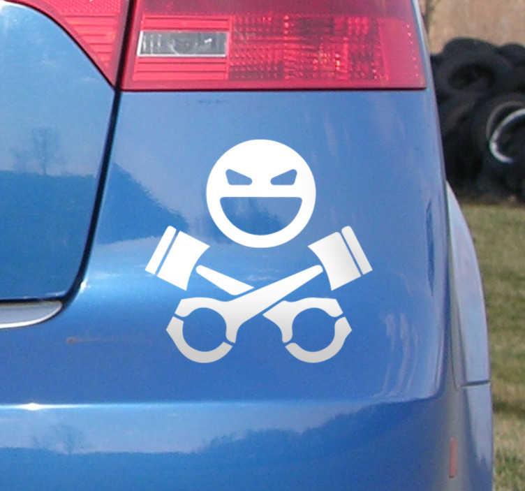 TenStickers. Skull and Keys Car Sticker. Vehicle Stickers - this design is for drivers who aren´t  afraid of danger. Our vinyl stickers are made from high quality, anti-bubble material.