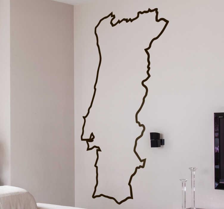 TenStickers. Vinil Silhueta Portugal Continental. Vinil decorativo autocolante com a silhueta de Portugal continental, podes decorar as paredes de tua casa, escritório, loja.
