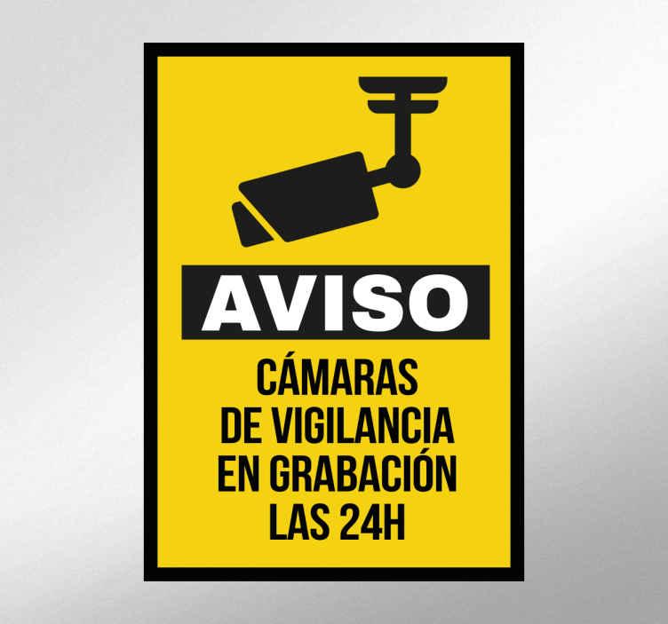 Cartel adhesivo c maras vigilancia tenvinilo - Cartel de videovigilancia ...