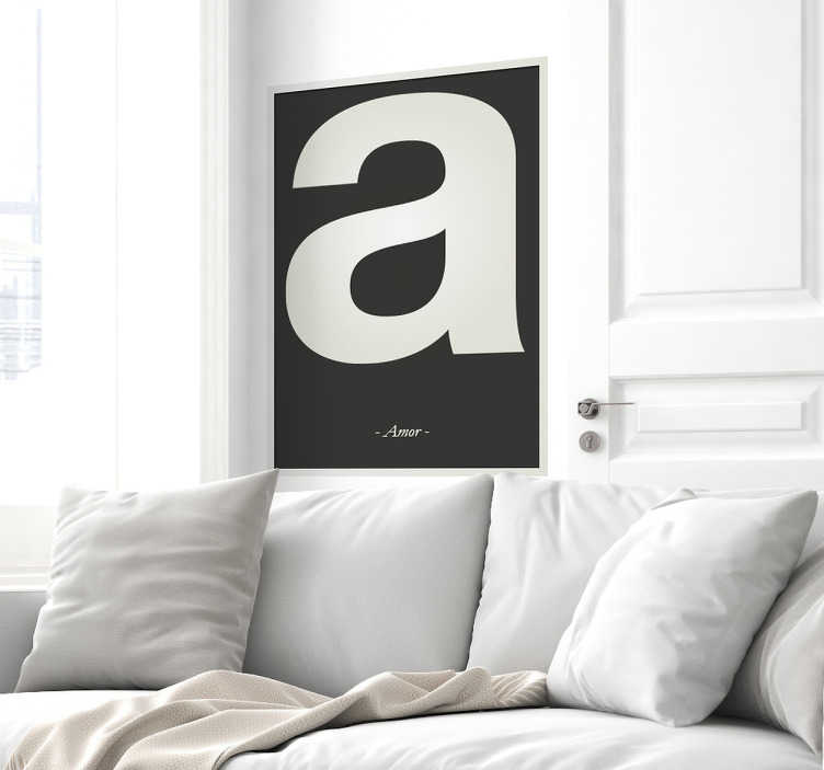 TenStickers. Letter A Wall Sticker. A wall sticker with the letter A from the alphabet, beautiful decoration for the nursery.