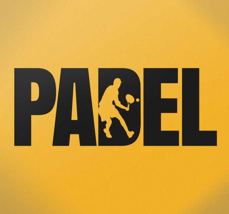 TenVinilo. Vinilo decorativo Padel. ¿Te gusta practicar el Pádel? Ahora puedes hacerte con una pegatina de diseño exclusivo de tu disciplina favorita.
