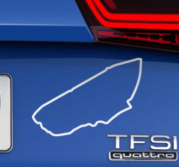 TenStickers. Sticker circuit de course de la Sarthe. Sticker du tracé du célèbre circuit des 24 du mans ; le circuit de course de la Sarthe parfait si vous êtes un passionné des voitures de course.