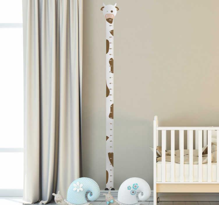 TenStickers. Vinil Vaca de medição de crescimento. Vinil Vaca de medição de crescimento. Coloque o quarto do seu filho mais atrativo com este vinil decorativo por um preço incrivel.