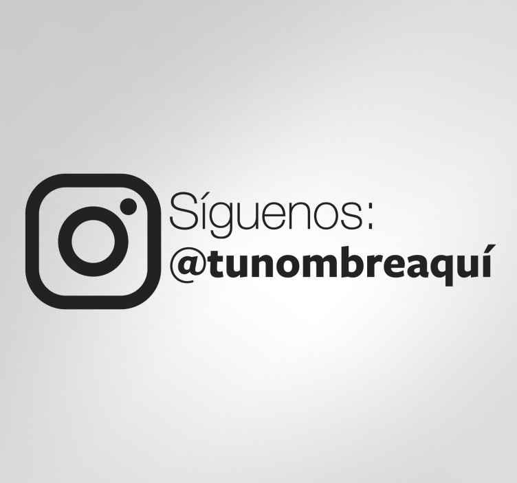 TenVinilo. Vinilo síguenos en instagram. Pegatinas para negocios personalizables para que promociones de una forma llamativa y moderna tu perfil de Instagram.