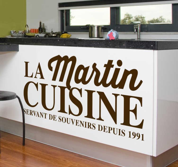 Sticker cuisine La Martin