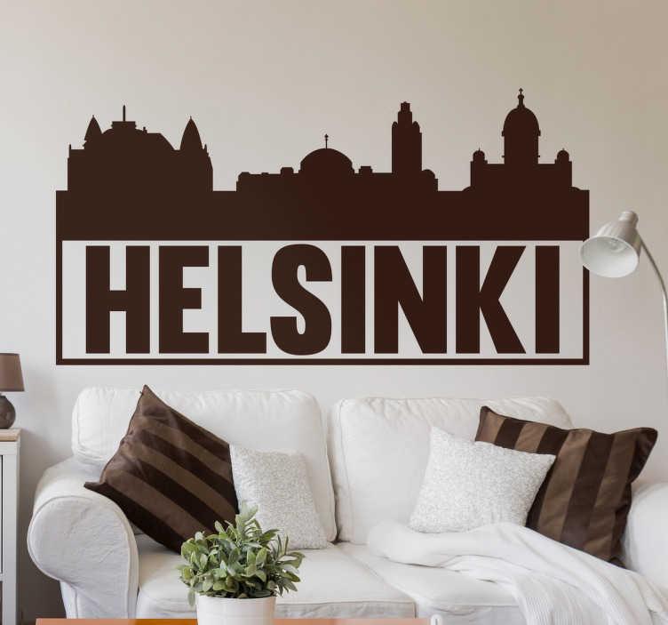 TenStickers. Sticker Helsinki monuments. Vous avez visité la capitale Finlandaise et avez adoré ou adorerez la visiter ? Ce sticker des principaux monuments de la ville vous fera voyager.