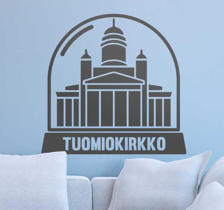 Tenstickers. Tuomiokirkko Seinätarra. Seinätarra Helsingin tunnetuimmasta nähtävyydestä Tuomiokirkosta. Tyylikäs seinätarra, joka sopii koristamaan kodin seiniä.