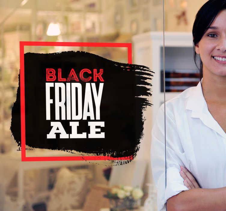 Tenstickers. Black Friday Aletarra. Black Friday lähestyy! Tämän tarran avulla informoit asiakkaitasi black fridayn aleista! Tarran kiinnität vaivattomasti ja poistat jälkiä jättämättä.