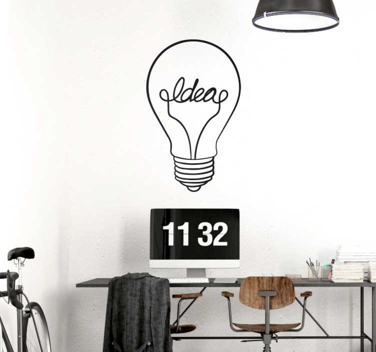Autocolante decorativo lâmpada ideias