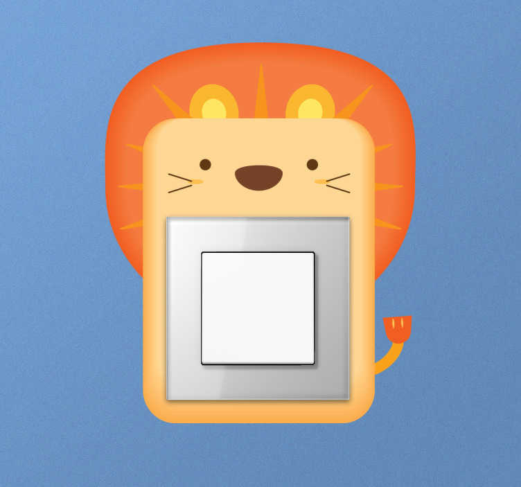 Sticker interrupteur lion