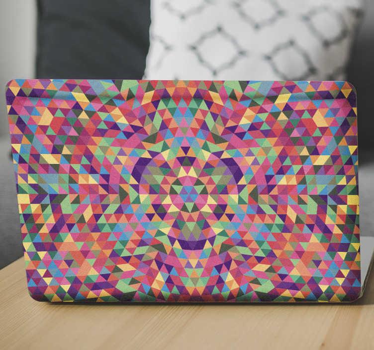 Sticker ordinateur triangles couleurs