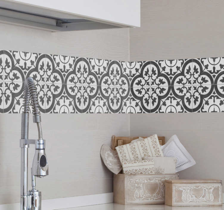 TenStickers. Moroccan Tile Sticker. An amazing, floral Moroccan tile design to decorate the tiles in your home. All of Moroccan Wall Tile Stickers are easy to apply.